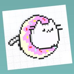 Cat In A Donut