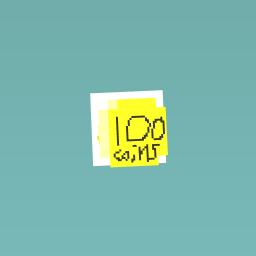 celebration of 100 coins