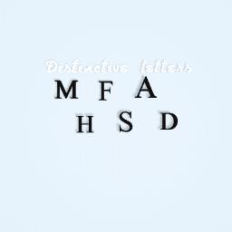 Distinctive letters