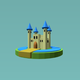 Castle with a moat.