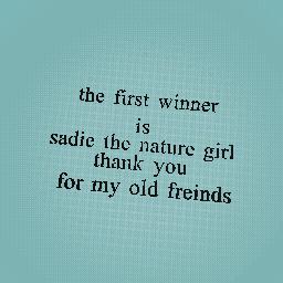 sadie the nature girl