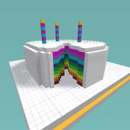 Beutifull rainbow cake