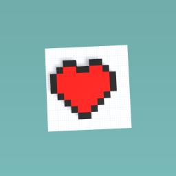 The minecraft heart