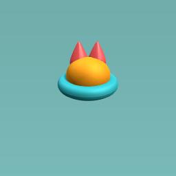 Blue Fox Hat and Spaceship