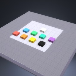 the colour blocks
