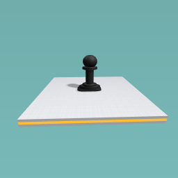 Black Checker Pawn