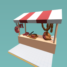 Meat marketstand