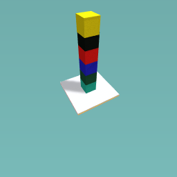 Coloured tower