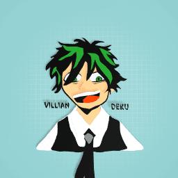 Villian Deku / Midoriya (I have time to draw but not a lot)