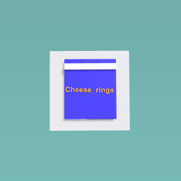 Packet of cheese rings