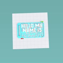 Name tag maze
