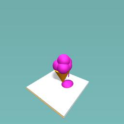 its a drippy cone