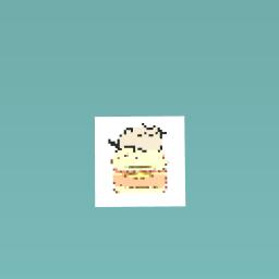 Cat on burger
