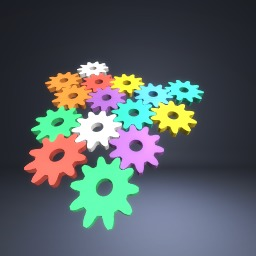 The colourful gears