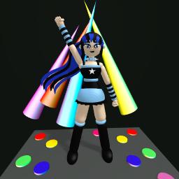 Blue rockstar girl