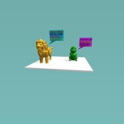The letter L challenge ( Lazy lion )