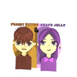 Grape jelly girl & Peanut butter boy