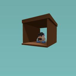 Mr. Potato head on the shelf