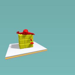 Dinosur in a rubix cube