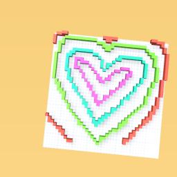Love heart rainbow