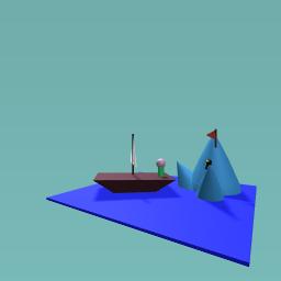 iceberg y el barco