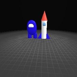 Among us toy + rocket ship toy!