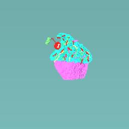 Rainbow sprinkles cherry cupcake