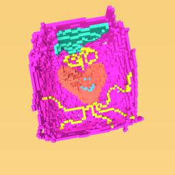 Smily face heart