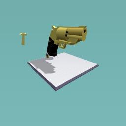 Rossi .38 gun, gold.