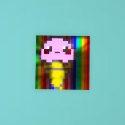 rainbow cupcake!!! i mean ice-cream yeah ice-cream yum