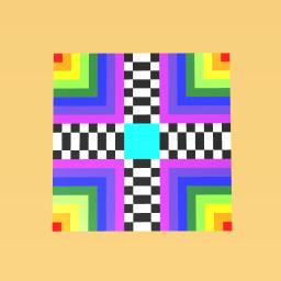 Gucci-1qaqa Checker Rainbow Art