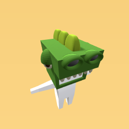 Green Dinosaur Head