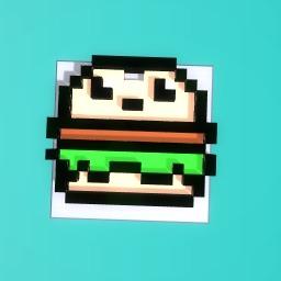 Hamburger keyring
