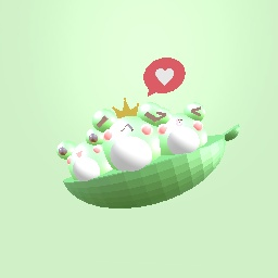Kawaii Pea Frogs