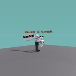 Wallace hugs Gromit