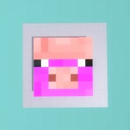 A pink and purple (minecraft) piggy