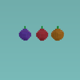 Orange apple and plum