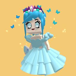 A blue cute girl