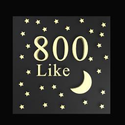 800 like