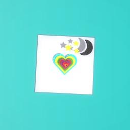 love heart/stars and moon