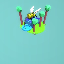Bee on helipad
