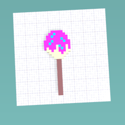 Cake-pop w/ sprinkles