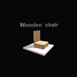 My favorite chair is wooden chair!