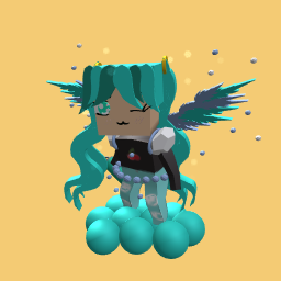 bubble teal queen I'm the queen