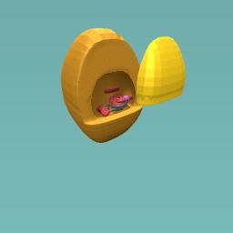 Egg Pod Toilet
