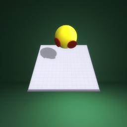 Yellow ball with salami...... Ummmmm....