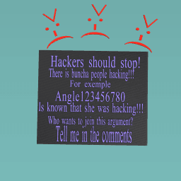 STOP THE HACKERS!!!