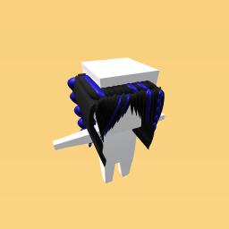 Black & Blue Braided